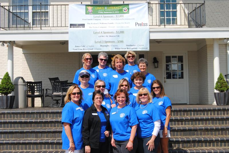 District 7 Ladies Volunteering at 2012 L4L Golf Tournament